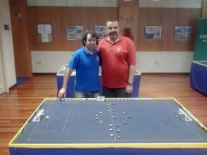 Juancar y Roberto antes de la final